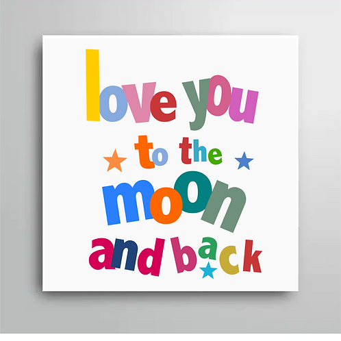 LOVE YOU TO THE MOON AND BACK FRIDGE MAGNET STYLE