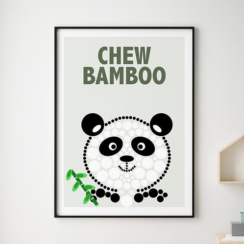 Chew Bamboo Panda Print