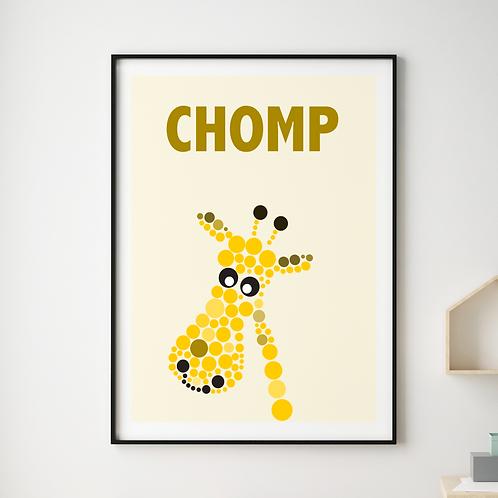 Chomp Giraffe Print