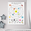 Thumbnail: Personalised Solar System and Space Facts Print