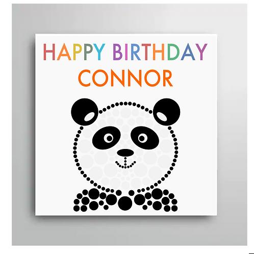 Personalised Happy Birthday Panda Card