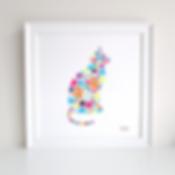 Cat Decoupage Art Print