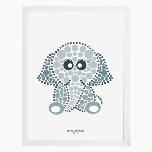 Elephant Nursery Art Print