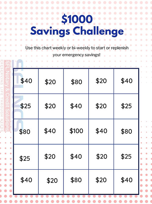 $1K Savings Challenge