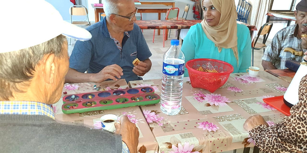 (BOUZID, Tunisia) Prepare the material of the African cognitive game