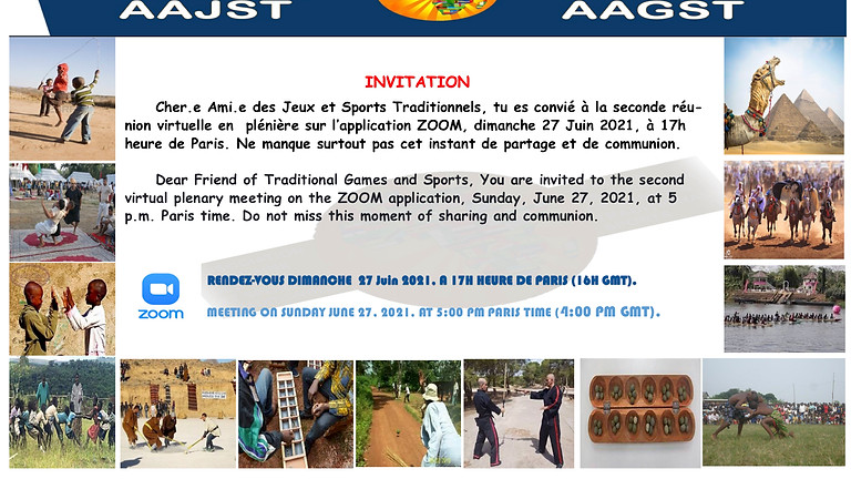 2nd AAJST videoconference meeting June 27, 2021 at 5:00 p.m. Paris