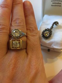 Naiste sõrmus 1,2 ct valge kuld