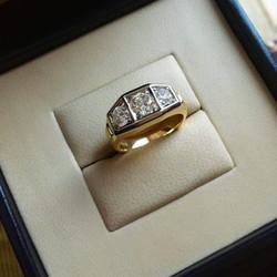 Art deco teemantsõrmus 1,64 ct 585