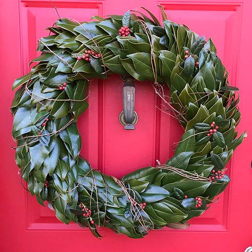 PREORDER 18 inch Magnolia Wreath