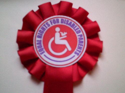 Equal Rights Logo Rosette