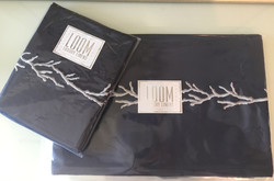 Navy and Silver Bedding