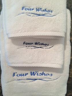 Monogrammed bath set