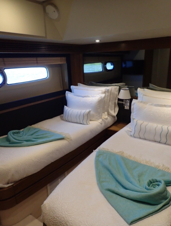 Custom Linens On A New Azimut