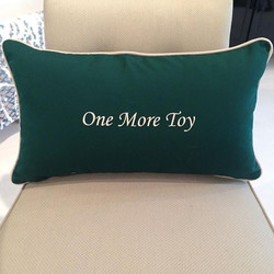 Custom Throw Pillow with Monogram