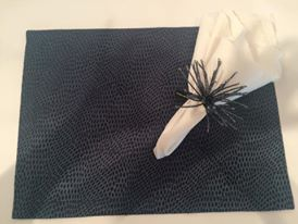 Custom made navy placemats