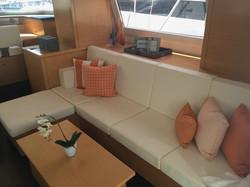 Playful orange throw pillows & decor