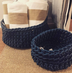 Chunky Knit Exterior Baskets