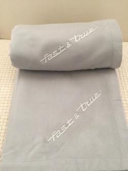 Monogrammed modal blankets
