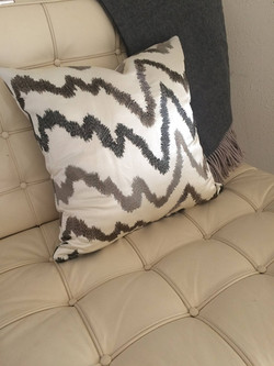 Zig zag accent pillow and wool throw