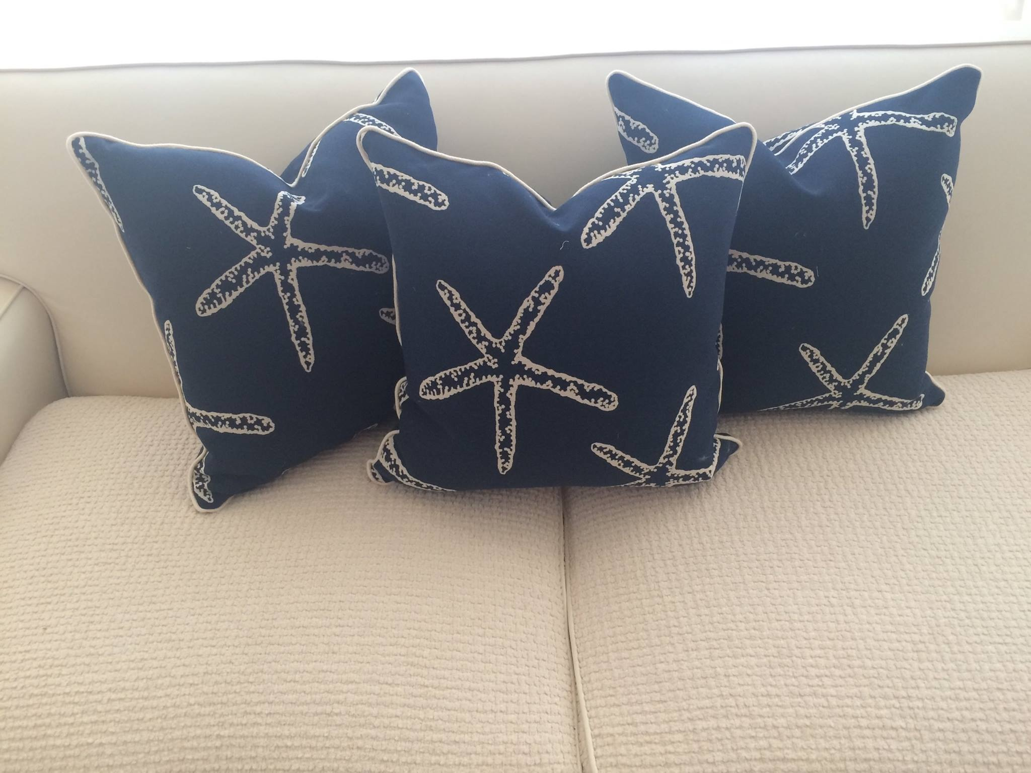 Starfish throw pillows