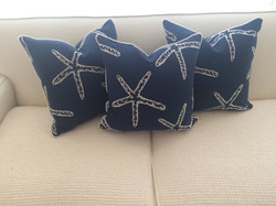 Starfish throw pillows
