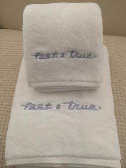 Plush monogrammed bath set