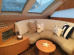 Accent pillows for sailing catamaran