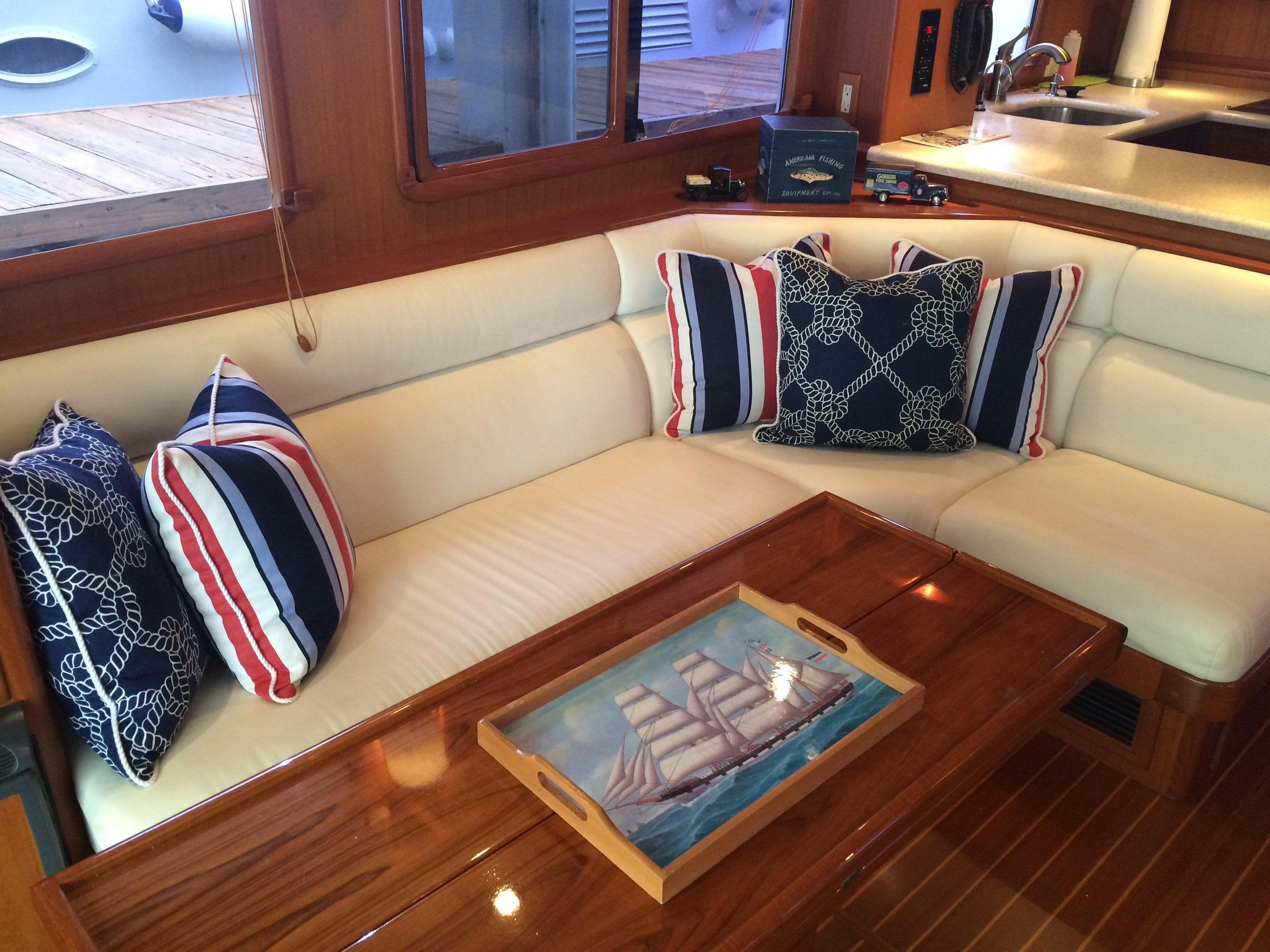Nautical interior/ exterior throw pilows