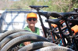 Packing the Mountain bikes
