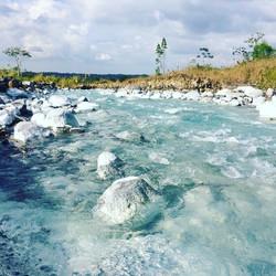 Stunning blue river