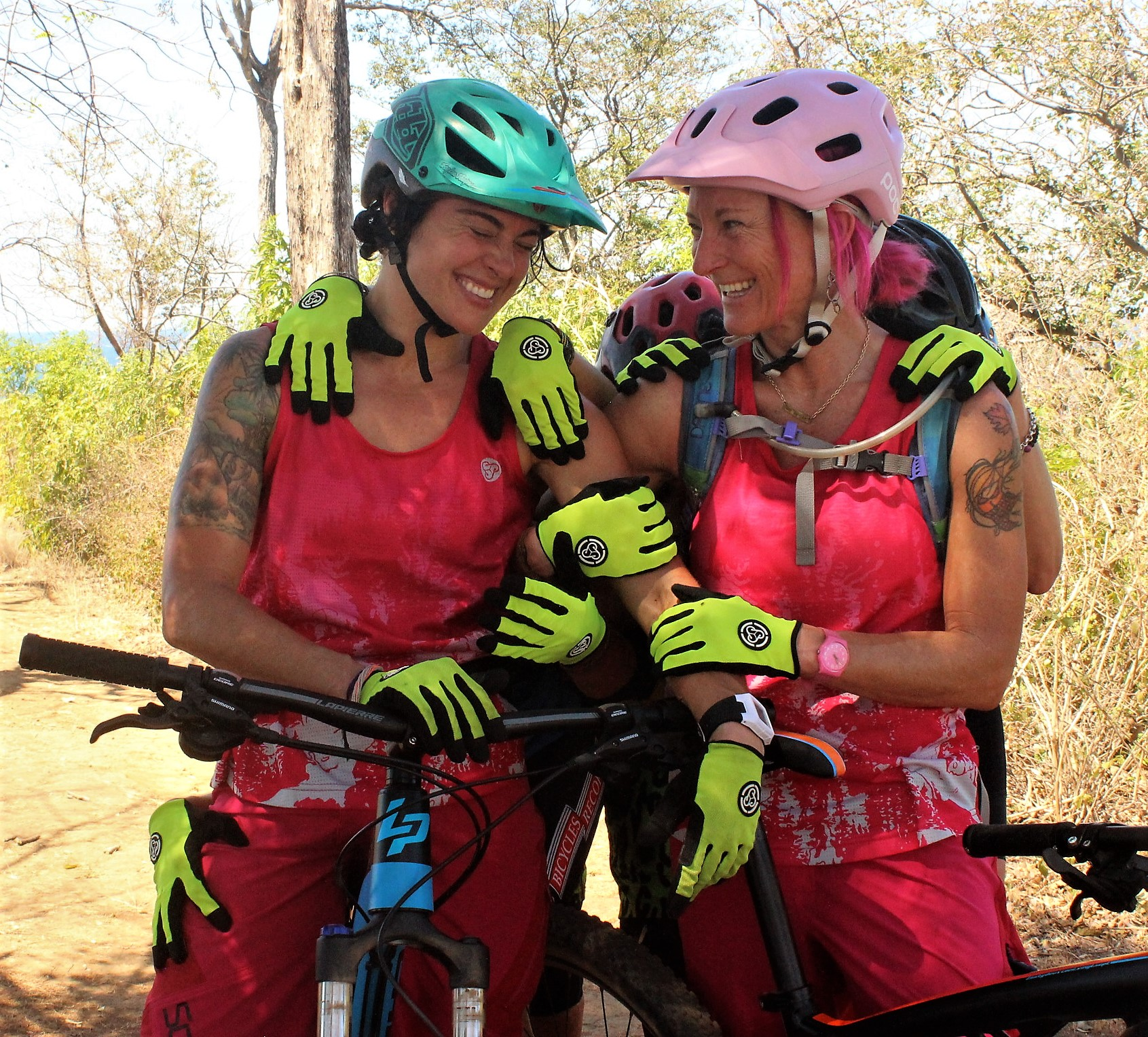 Ladies having fun on the MTB trips