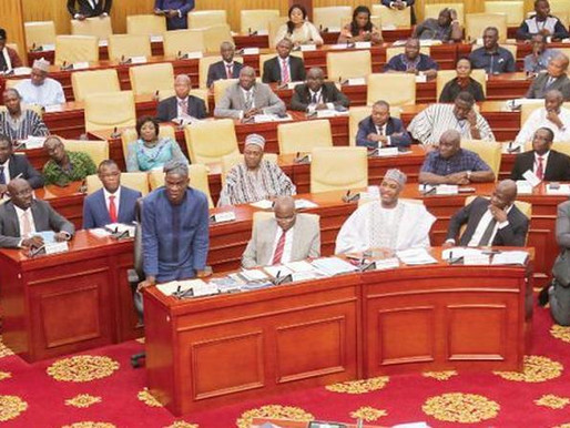 NDC MPs finally agree to occupy the Minority side of Parliament