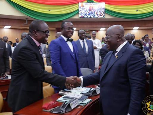 Prez Akufo-Addo congratulate Speaker Alban Bagbin