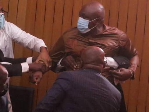 'Part-time politician, full-time kwashey boy' – Ghanaians react to Carlos Ahenkorah's ballot-snatch