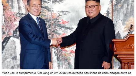 Coreia do Sul e do Norte restabelecem linha de comunicação após 13 meses sem contato
