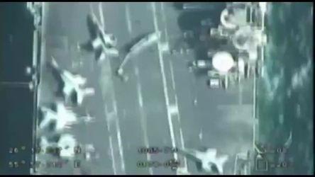 Vídeo - Drone iraniano sobrevoa porta-aviões dos EUA no Golfo Pérsico sem ser percebido