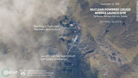 CNN: Rússia se prepara para retomar testes do míssil movido à energia nuclear