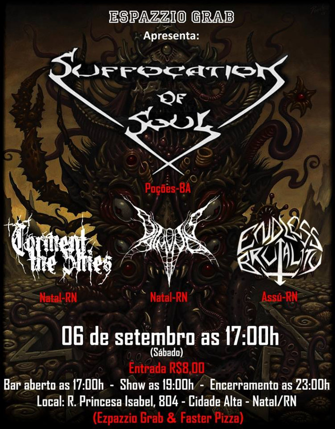 Suffocation Of Soul (BA) + Torment The Skies (RN) + Daimonos (RN) + Endless Brutality (RN)