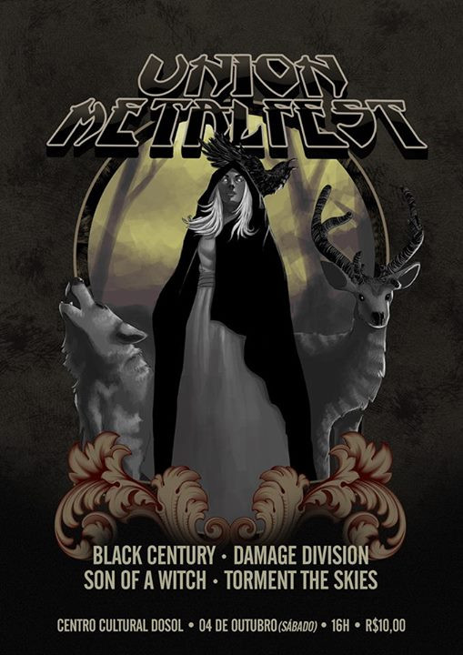 UNION METALFEST - Black Century (RN) + Damage Division (RN) + Son Of A Witch (RN) + Torment The Skie