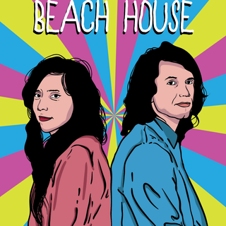 A fun promo poster I did for Beach House for their arrival here in August!