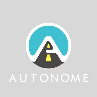 "A selection from a 30 day logo challenge. This was a for an autonomous driving company.   I used softer edges to mimic a futurisitc steering wheel while also putting the logo ""on the road""."