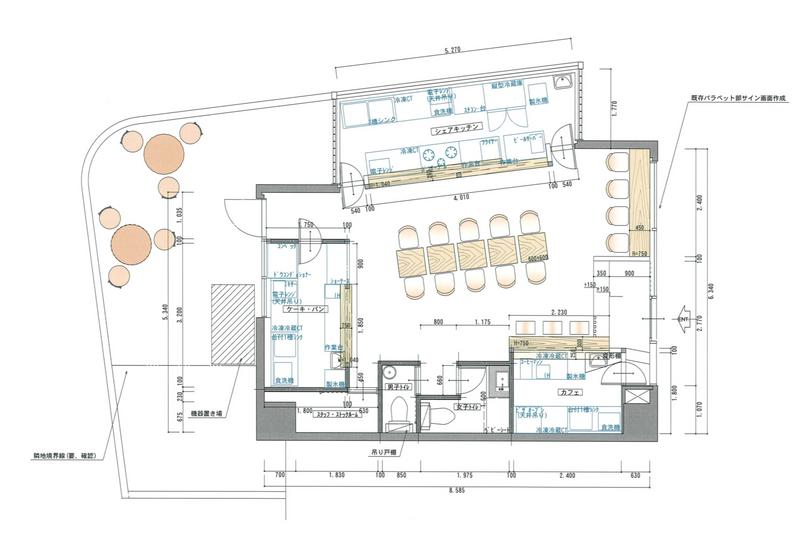 店舗の平面図