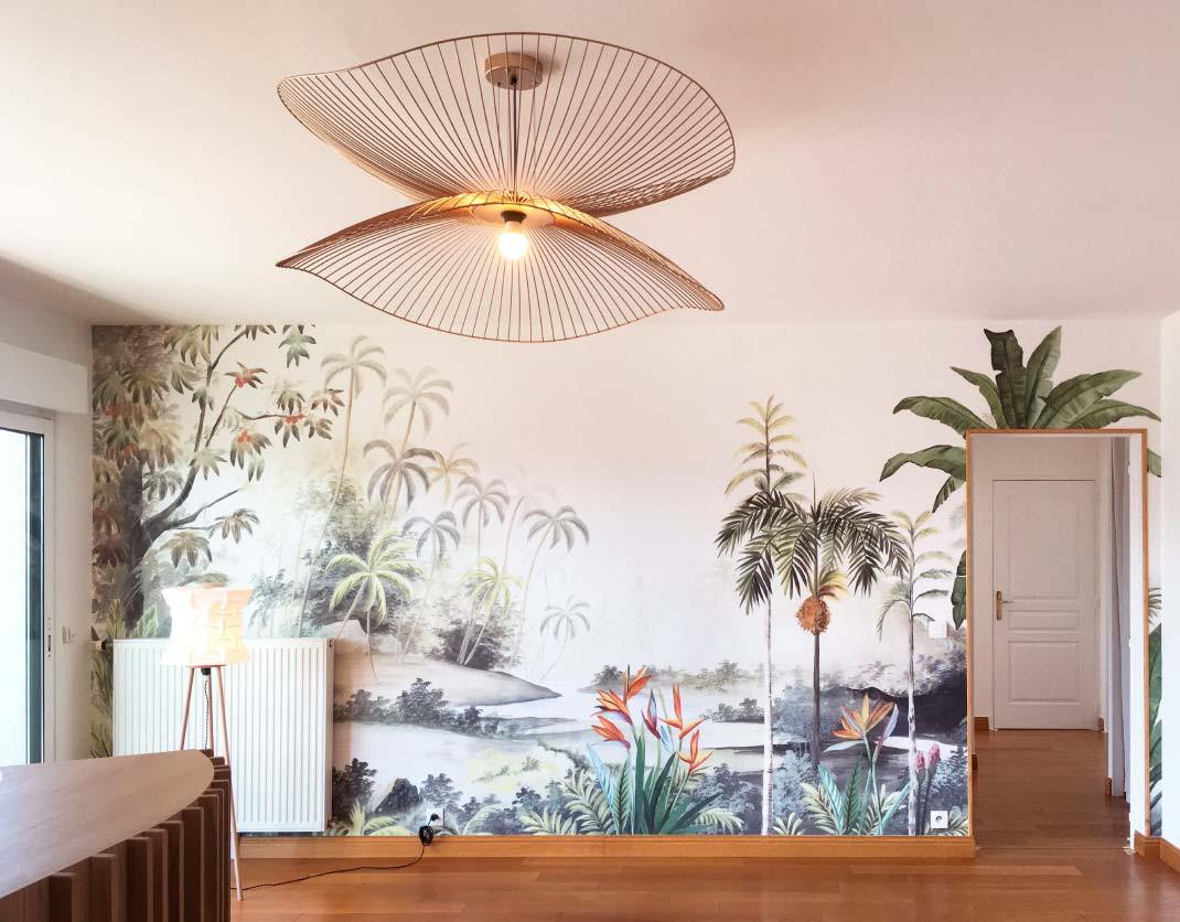 Détail papier peint décoratif - Caen - 2020