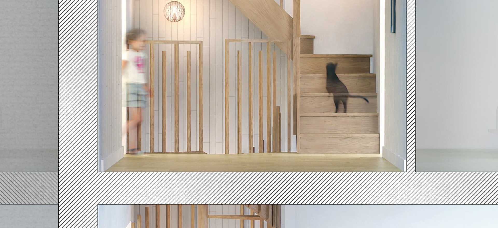 Aménagement intérieur Rouen escalier