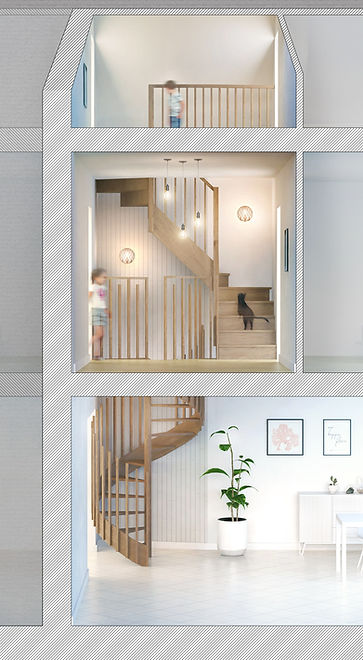 Aménagement intérieur Rouen escalier (1)