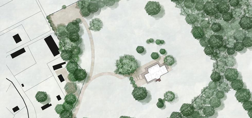 Plan masse château de Conteville