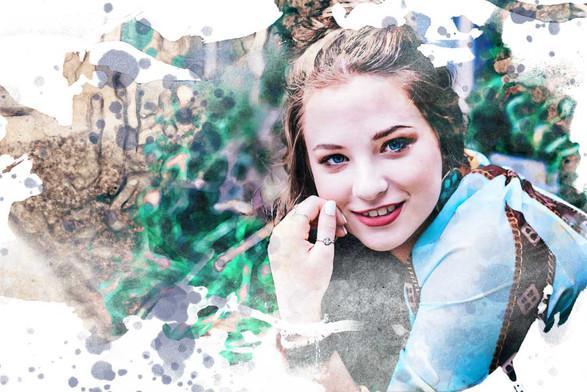 Senior Photography Watercolor