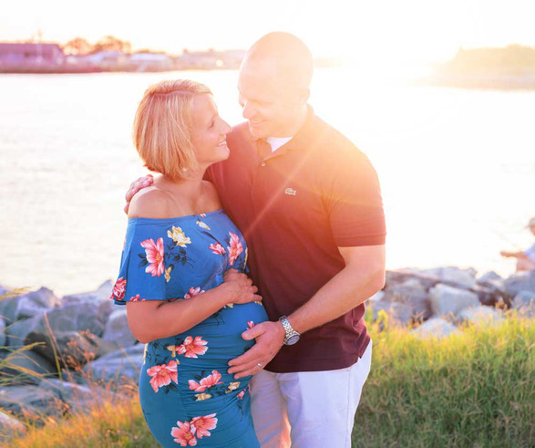 Sunset Maternity Beach Session Lewes Delaware