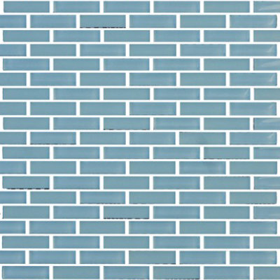 Vetro Crystal Blue Staggered Brick