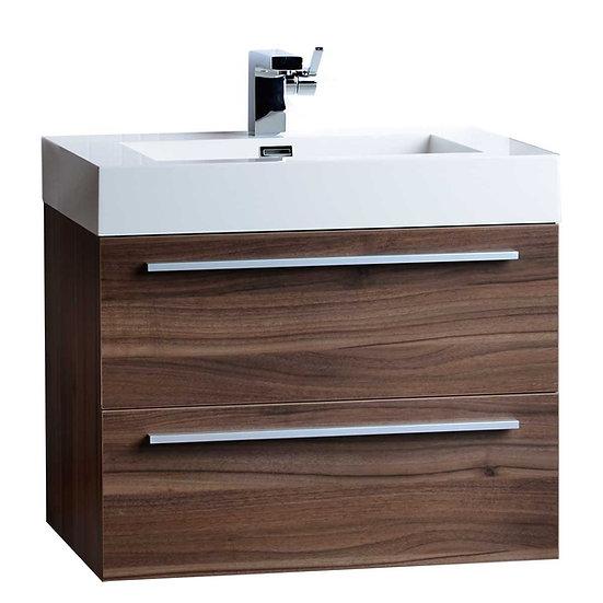 "26.75"" Single Bathroom Vanity Set in Walnut TN-T690-WN"